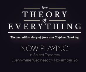 The Theory of Everything playing at the Cinema now.