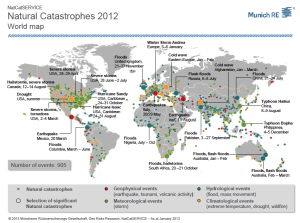 Natural Catastrophes World Map