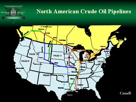 major north american crude oil pipelines