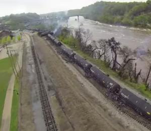 The Lynchburg crude oil spill