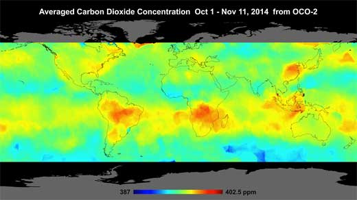 OCO-2 Carbon image Oct 1 -Nov 11
