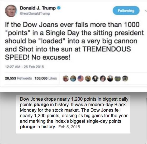 Trump QuoteJoke Dow JOANS Is NOT The Dow Jones KenBurridge Simple Dow Quote