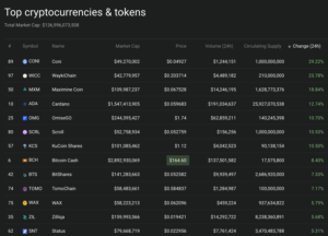 Cryptocurrency market